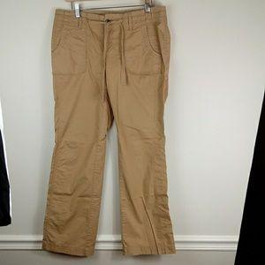 Relaxed wide leg British Khaki utility pants sz 10